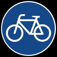 Bike-Schild-Blau